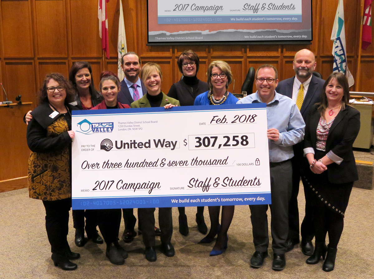 United Way Cheque Presentation